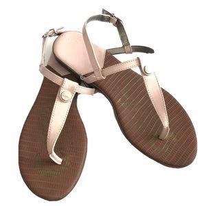Sam Edelman Sandals strappy flat Pink Leather 9